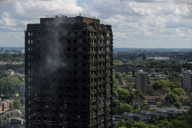 The fire fighter to arrive at the Grenfell Tower blaze in June 14 last year did not notice it had