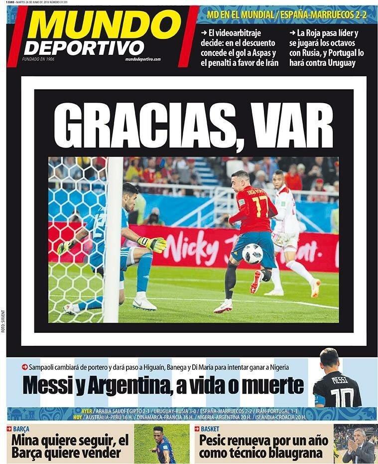 """""""Gracias, VAR"""": ce que pense la presse internationale du match"""