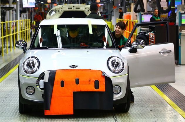 BMW's Mini assembly line at its factory in Cowley,