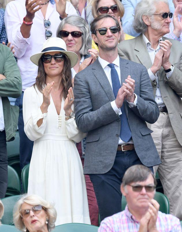 Pippa Middleton inÉtoile Isabel Marant at Wimbledon on 14 July