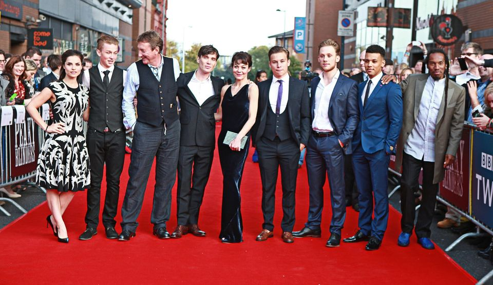 Steven with the cast of 'Peaky