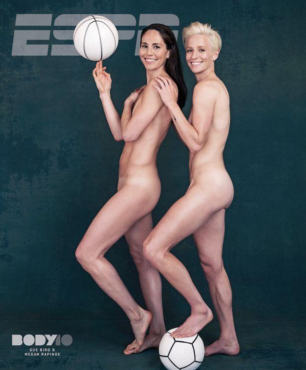 Sue Bird (izquierda) y Megan Rapinoe (derecha), en la portada de