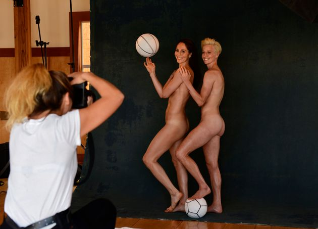 Bird and Rapinoe pose for ESPN magazine. Bird says she hopes that in the future, a gay couple featured...