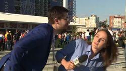 Coupe du monde 2018: cette fois-ci, cette journaliste a vu l'agression venir et ne s'est pas laissée