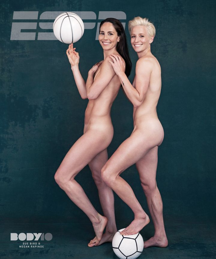 Bird and Rapinoe discuss in ESPN's body issue how honored they are to be the first openly gay couple featured in it.