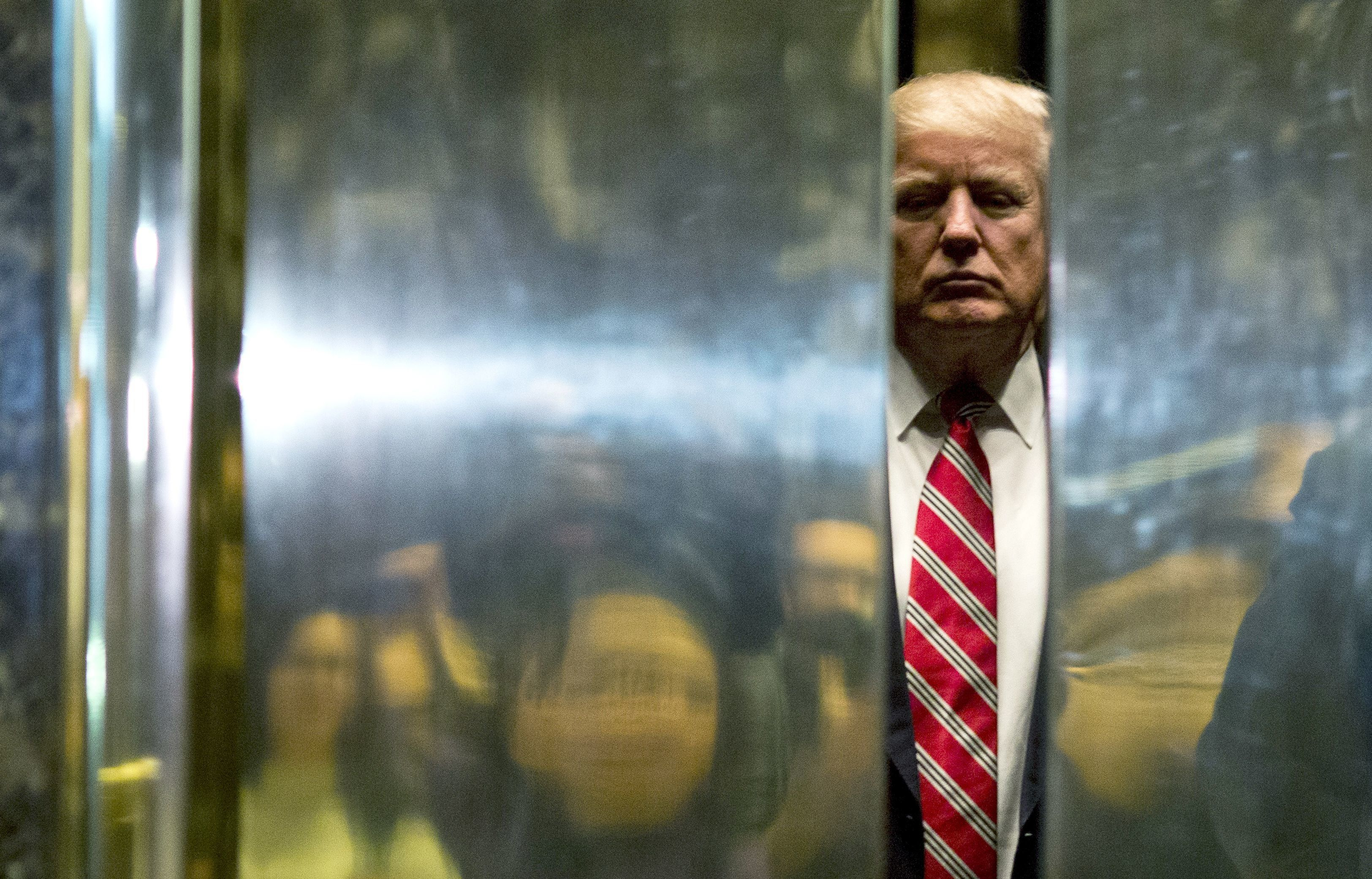 A tape might exist of Trump doing <i>something </i>in an elevator, though it's not exactly clear what that&nbs
