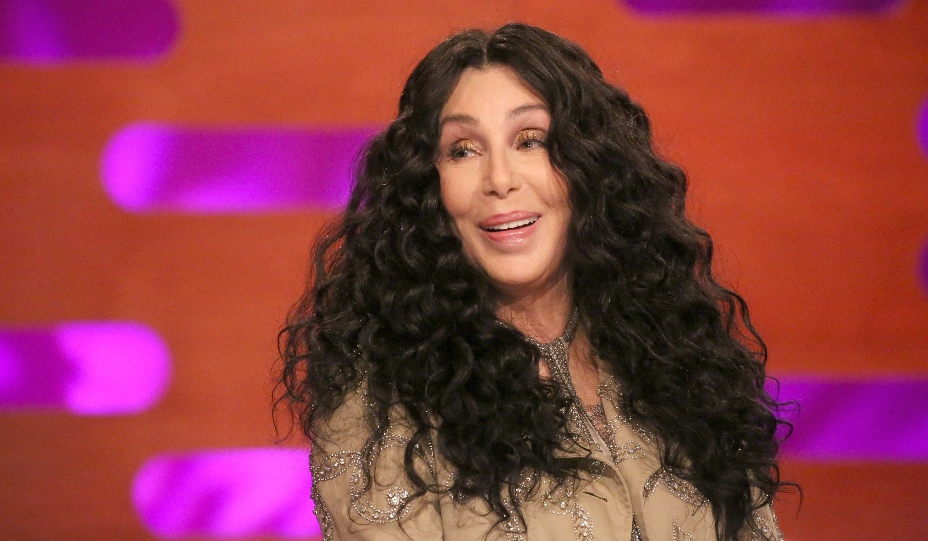 Cher during the filming of the Graham Norton Show at BBC Studioworks 6 Television Centre, Wood Lane, London, to be aired on BBC One on Friday evening.