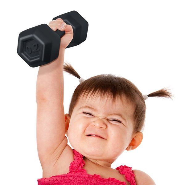 """$12, get it <a href=""""https://www.amazon.com/Fred-BUFF-BABY-Dumbbell-Rattle/dp/B00UB8BEEM?tag=thehuffingtop-20"""" target=""""_blank"""