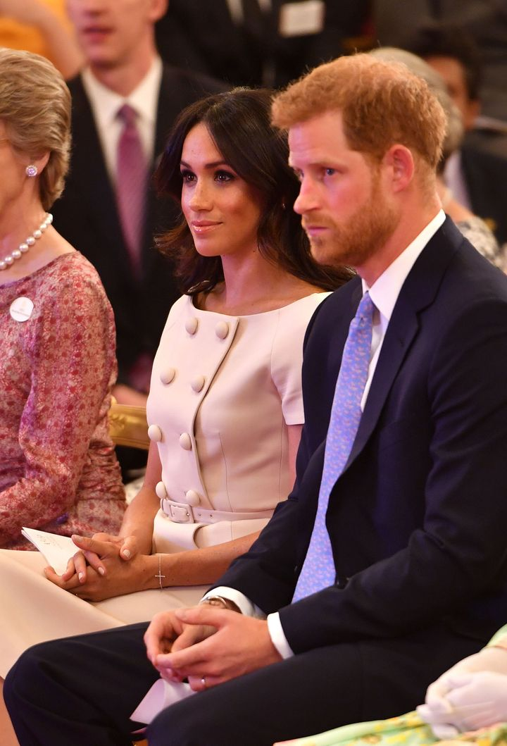 The Duke and Duchess of Sussex, looking stylish.
