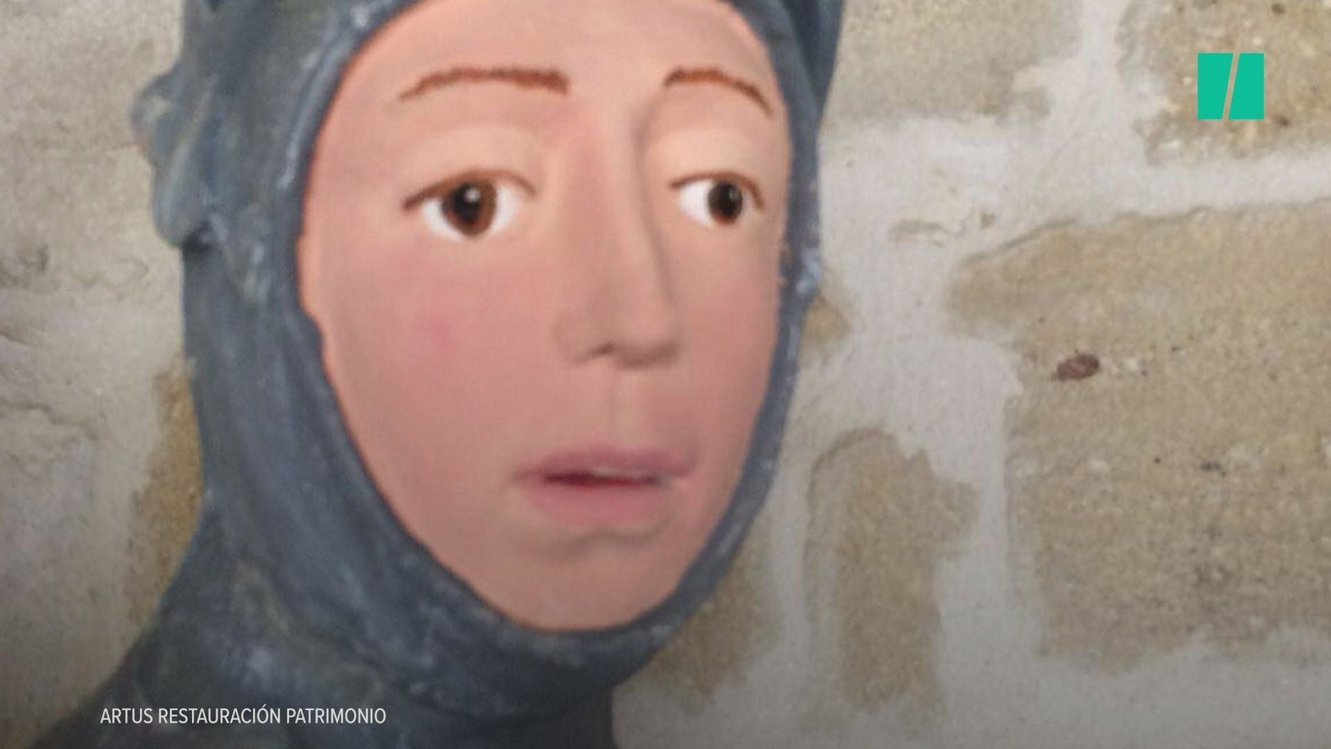 Art Restoration Of 500-Year-Old Statue Goes Wrong