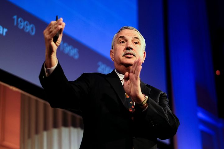 "Pulitzer Prize-winning New York Times columnist Thomas Friedman started calling for a ""Green New Deal"" in 2007."