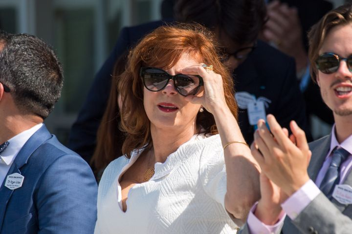 Susan Sarandon attends the Royal Windsor Cup on Sunday.