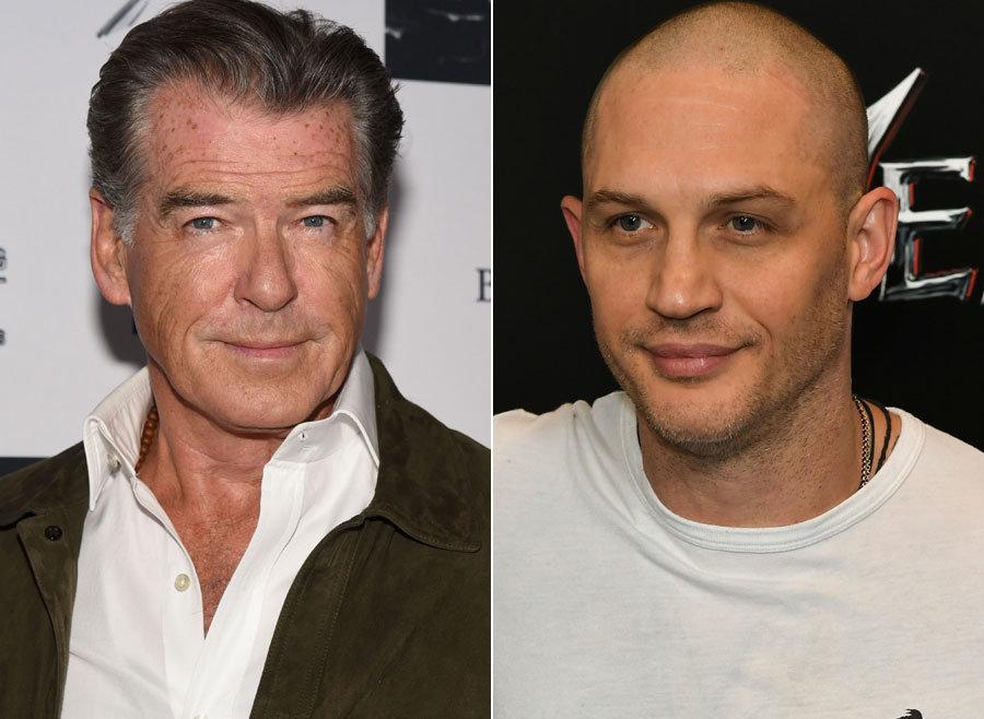 Pierce Brosnan (left) reckons Tom Hardy will