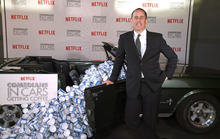 "Jerry Seinfeld promotes ""Comedians in Cars Getting Coffee"" in New York on Tuesday."