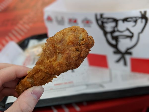 I hadn't stepped foot in a KFC in a year or two, and was surprised by the decidedly farm-to-table touches in the locati