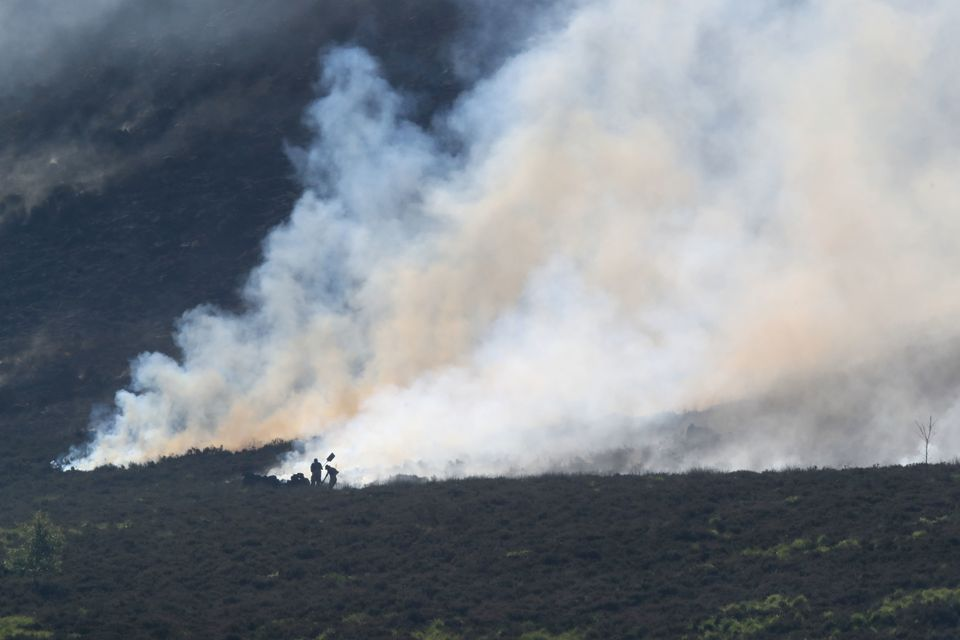The blaze was declared a 'major incident' on Tuesday