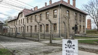 The Auschwitz Death Camp area is seen in Auschwitz I Death Camp in Oswiecim, Poland on 11 April 2018 Taking place annually on Yom Hashoah - Holocaust Remembrance Day - The March of the Living itself is a 3-kilometer walk from Auschwitz to Birkenau as a tribute to all victims of the Holocaust. (Photo by Michal Fludra/NurPhoto via Getty Images)