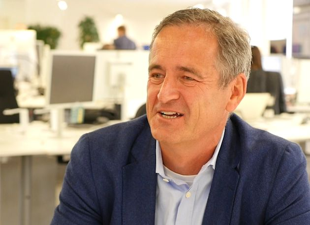 EnBW-CEO Frank Mastiaux interviewt Staatssekretär Björn
