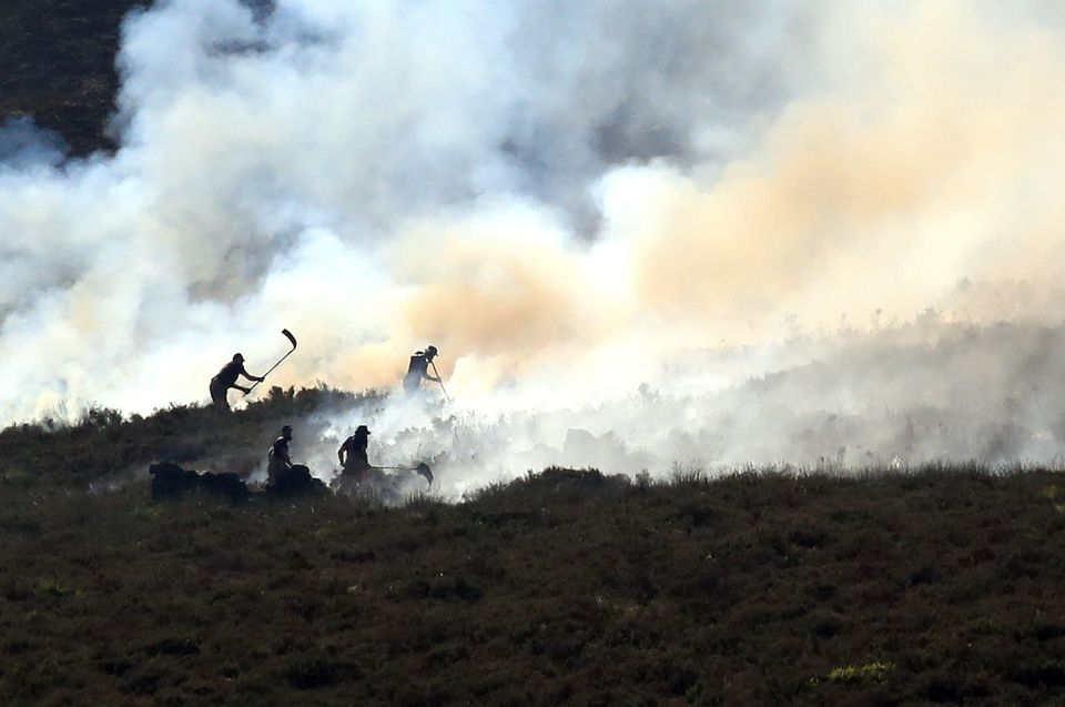 The blaze has now been declared a 'major incident' by Greater Manchester