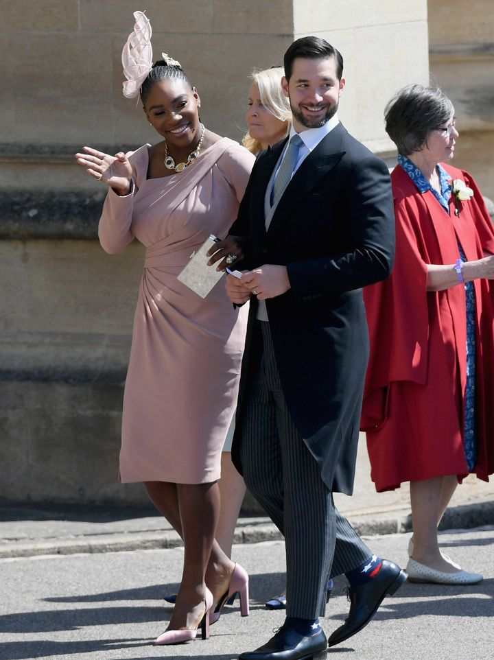 Serena Williams and Alexis Ohanian attend the wedding of Prince Harry and Meghan Markle.