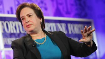 WASHINGTON, DC - OCTOBER 16:  Associate Justice of the U.S. Supreme Court Elena Kagan speaks onstage at the FORTUNE Most Powerful Women Summit on October 16, 2013 in Washington, DC.  (Photo by Paul Morigi/Getty Images for FORTUNE)