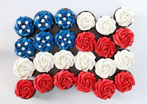 "<strong>Get the <a href=""https://iambaker.net/flag-cupcake-cake/"" target=""_blank"">Flag Cupcake Cake</a> recipe from I Am Bake"