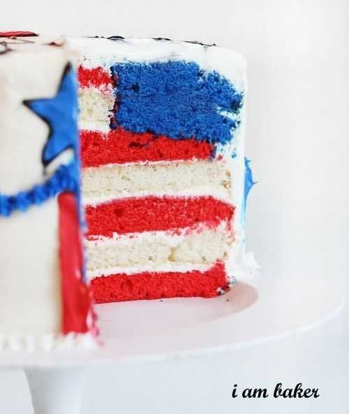 "<strong>Get the <a href=""https://iambaker.net/fourth-of-july-cake-surprise-inside-cake/"" target=""_blank"">Fourth Of July Cake<"