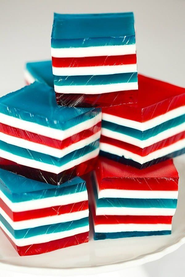 "<strong>Get the <a href=""https://www.browneyedbaker.com/red-white-blue-finger-jello/"" target=""_blank"">Red, White and Blue Lay"