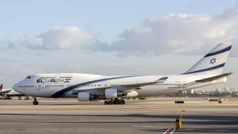 A picture taken on July 19, 2016 shows an El Al Israel Airlines' Boeing 747-458 manuvring on the tarmac at the Ben Gurion International Airport near Tel Aviv. / AFP / JACK GUEZ        (Photo credit should read JACK GUEZ/AFP/Getty Images)