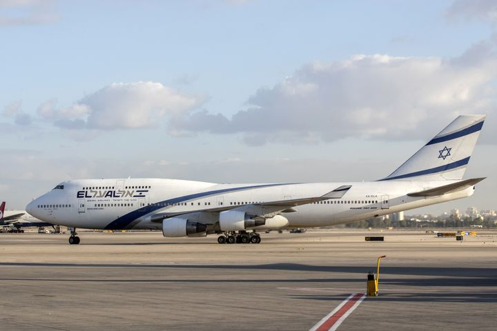 An El Al airplane is pictured at the Ben Gurion International Airport near Tel Aviv on July 19, 2016.
