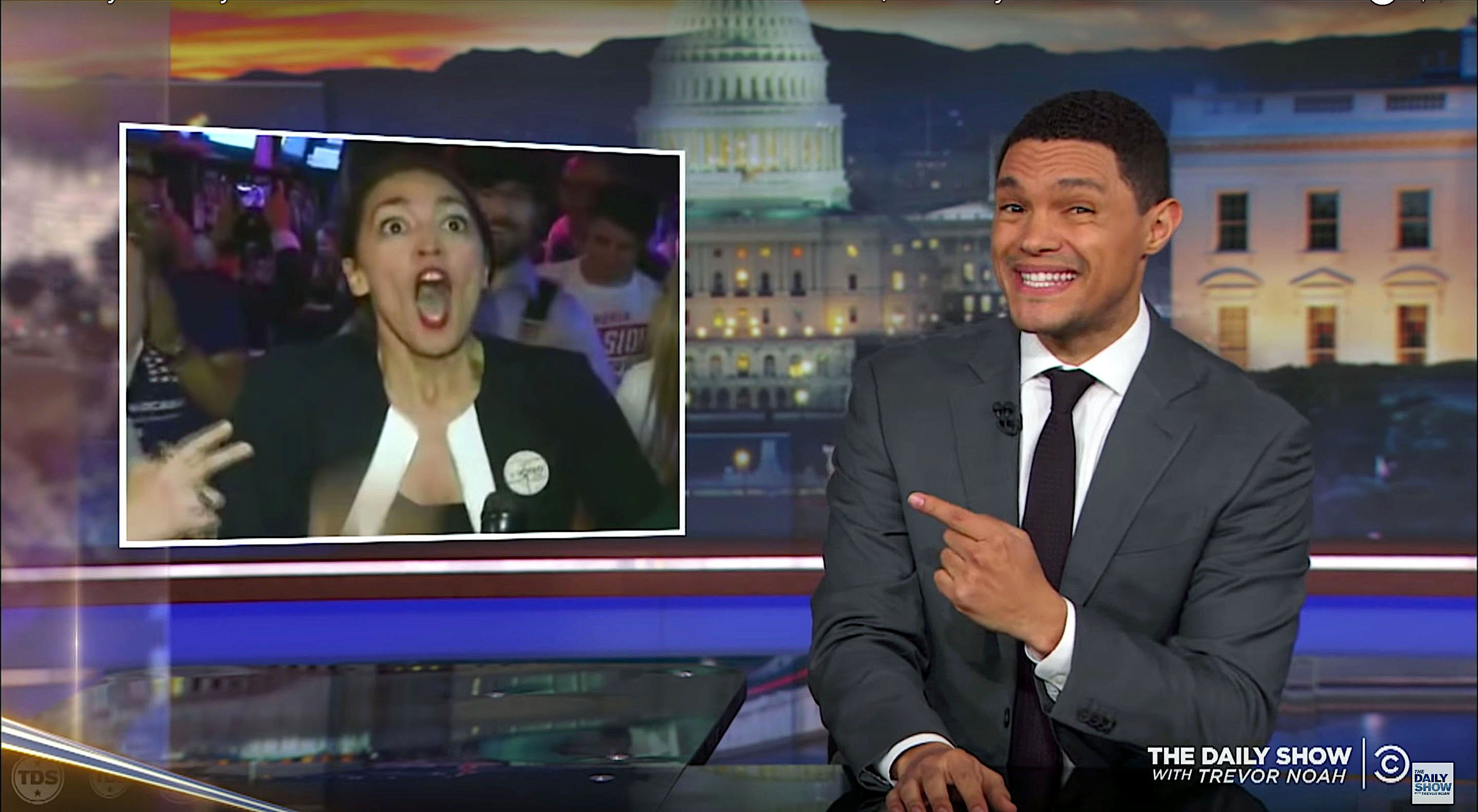 Trevor Noah of The Daily Show reminds viewers of what a happy face looks like