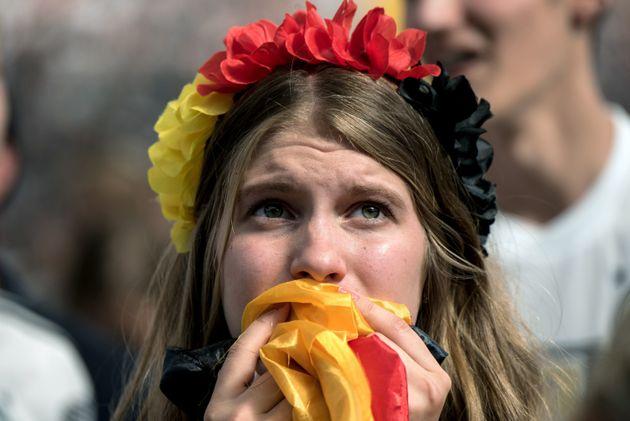 Die deutschen Fans sind nach dem Ausscheiden der DFB-Elf