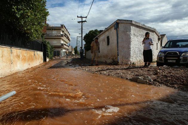 Μάνδρα: Αποκαταστάθηκε η κυκλοφορία των οχημάτων στην