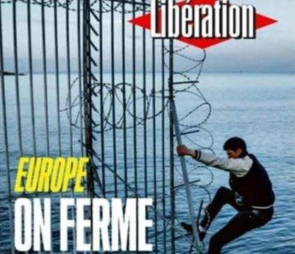 Το εξώφυλλο της Libération για τα κλειστά σύνορα στην