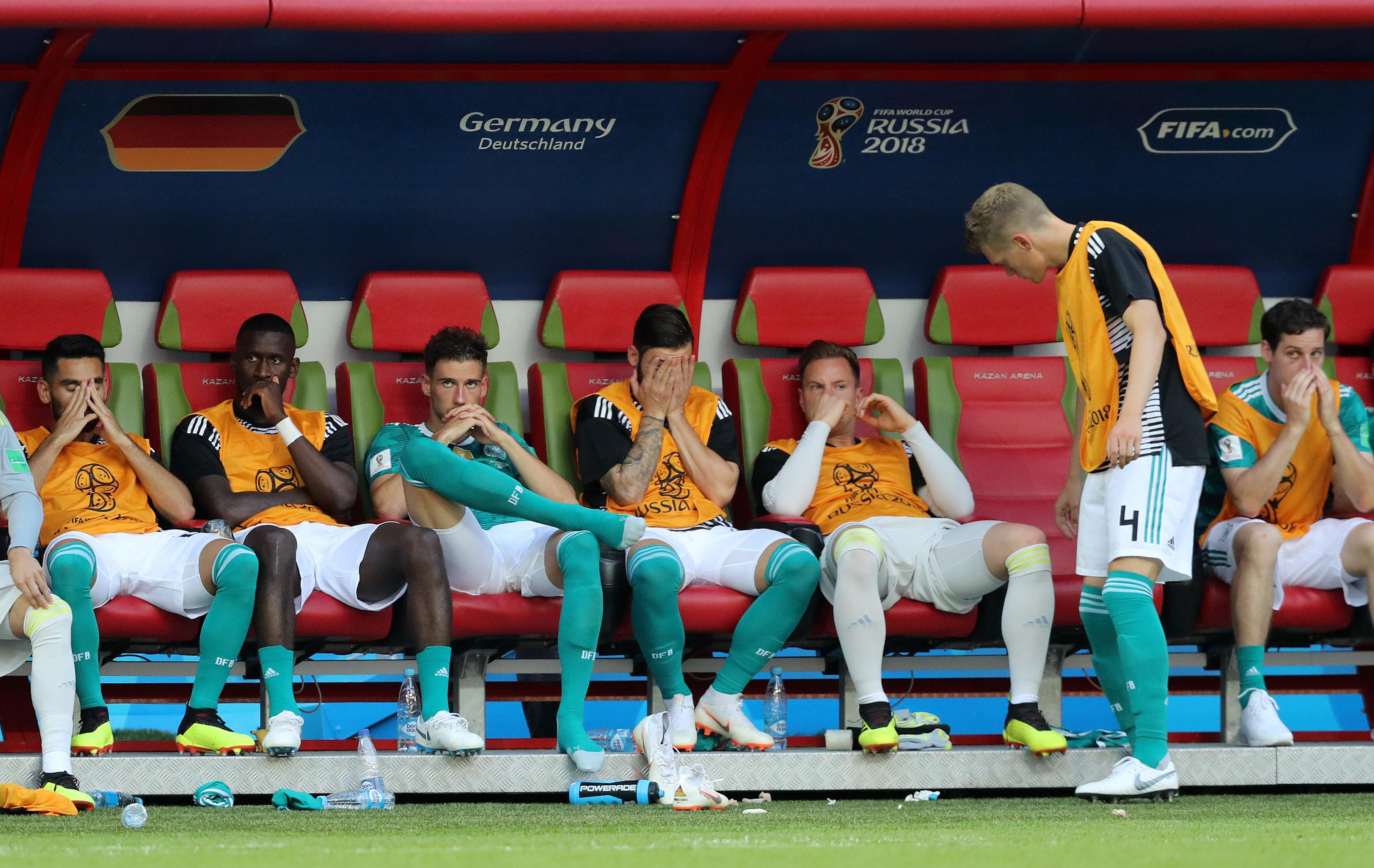 Das DFB-Team nach der Niederlage gegen