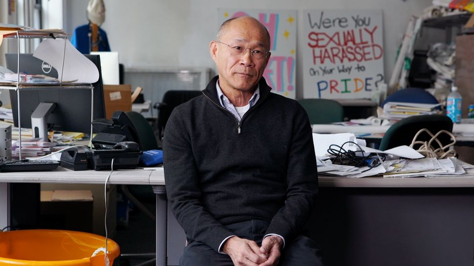 "Don Kao, a longtime queer activist who appears on the Gay Insurgent cover, is interviewed for the NBC series ""Searching"