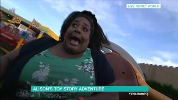 Alison Hammond Riding A Rollercoaster Live On 'This Morning' Is TV