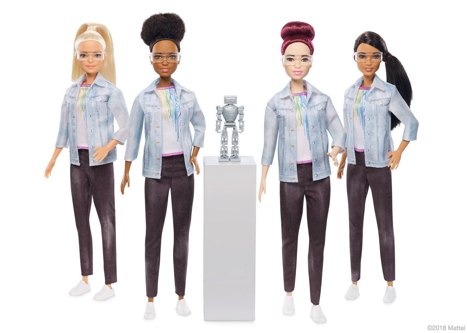 Today, the Barbie� brand launches Robotics Engineer Barbie, a doll designed to pique girls� interest in STEM and shine a light on an underrepresented career field for women. (PRNewsfoto/Mattel, Inc.)