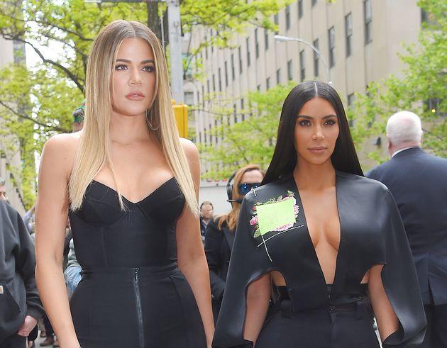 Kim Kardashian and Khloe Kardashian are seen out inNew York City in