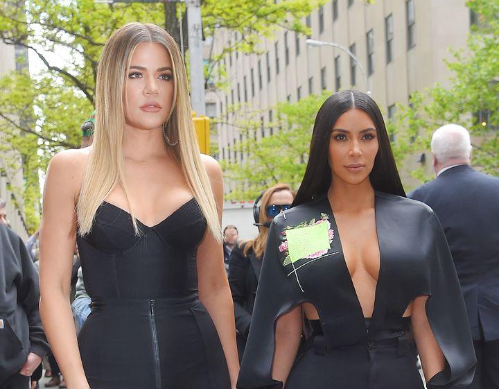 Kim Kardashian and Khloe Kardashian are seen out inNew York City in 2017.