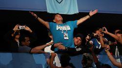 Maradona après son malaise lors d'Argentine-Nigeria: