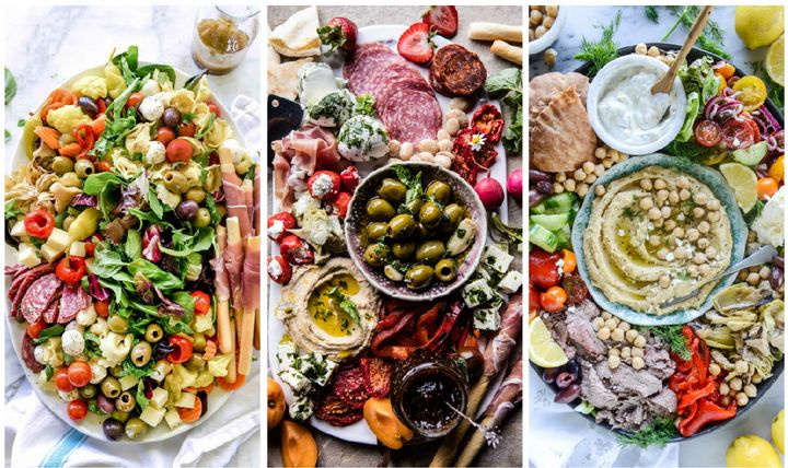 Let's celebrate the fresh, sunny elements of summer with some colorful antipasto platters, cheese plates and veggie boards.