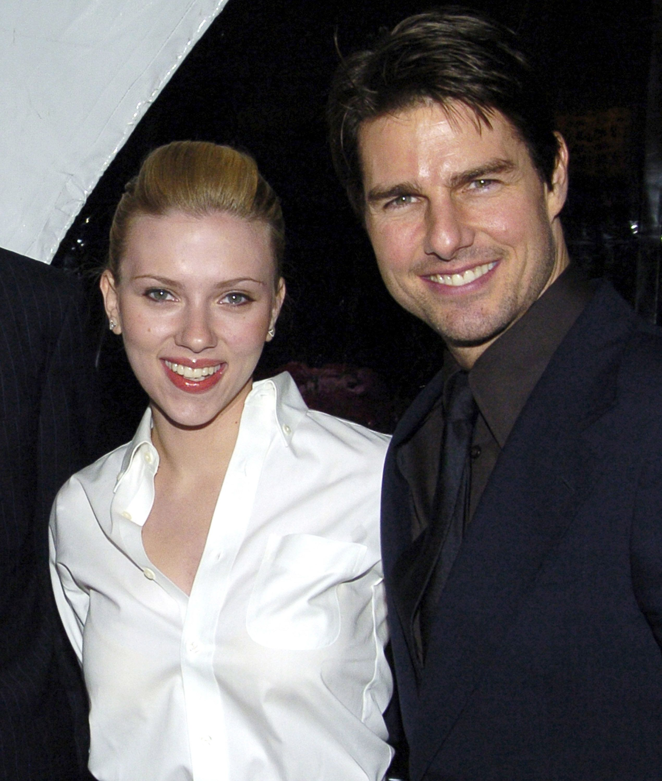 Scarlett Johansson and Tom Cruise pictured together at a benefit.