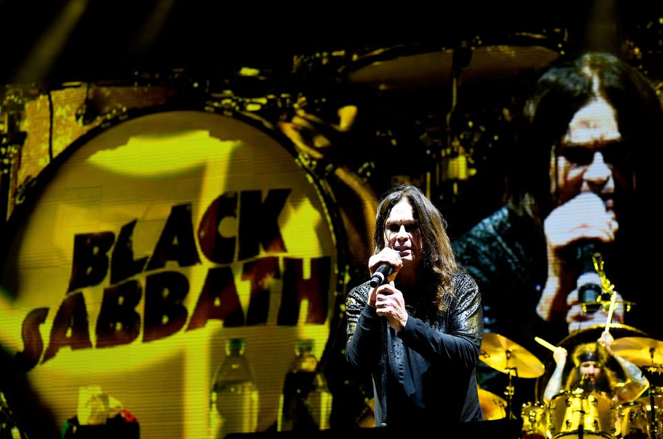 Ozzy on stage with Black