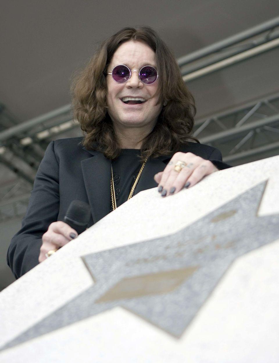 Ozzy was awarded a star on Birmingham's Walk Of Stars in