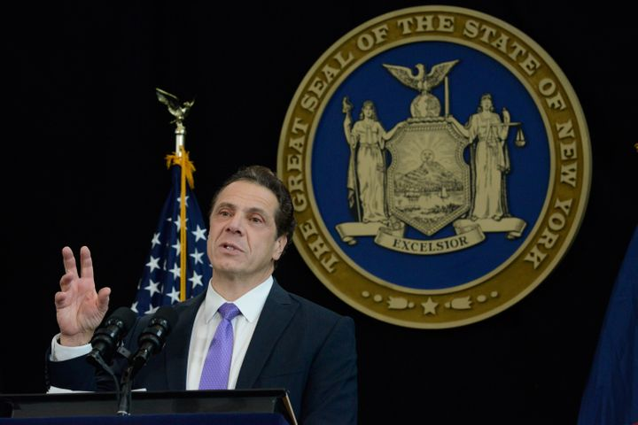 New York Gov. Andrew Cuomo delivers his State of the State address in 2017.