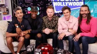 LOS ANGELES, CA - May 31: (EXCLUSIVE COVERAGE) (L to R) Tan France, Karamo Brown, Bobby Berk, Antoni Porowski and Jonathan Van Ness from 'Queer Eye' visits the Young Hollywood Studio on May 31, 2017 in Los Angeles, California. (Photo by Mary Clavering/Young Hollywood/Getty Images)