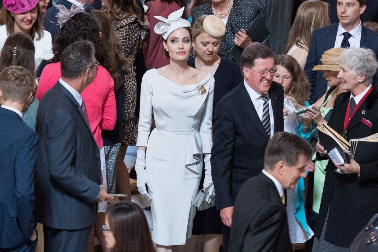 Angelina Jolie wore Ralph & Russo for the event. (Photo: Jeff Spicer/Getty Images)