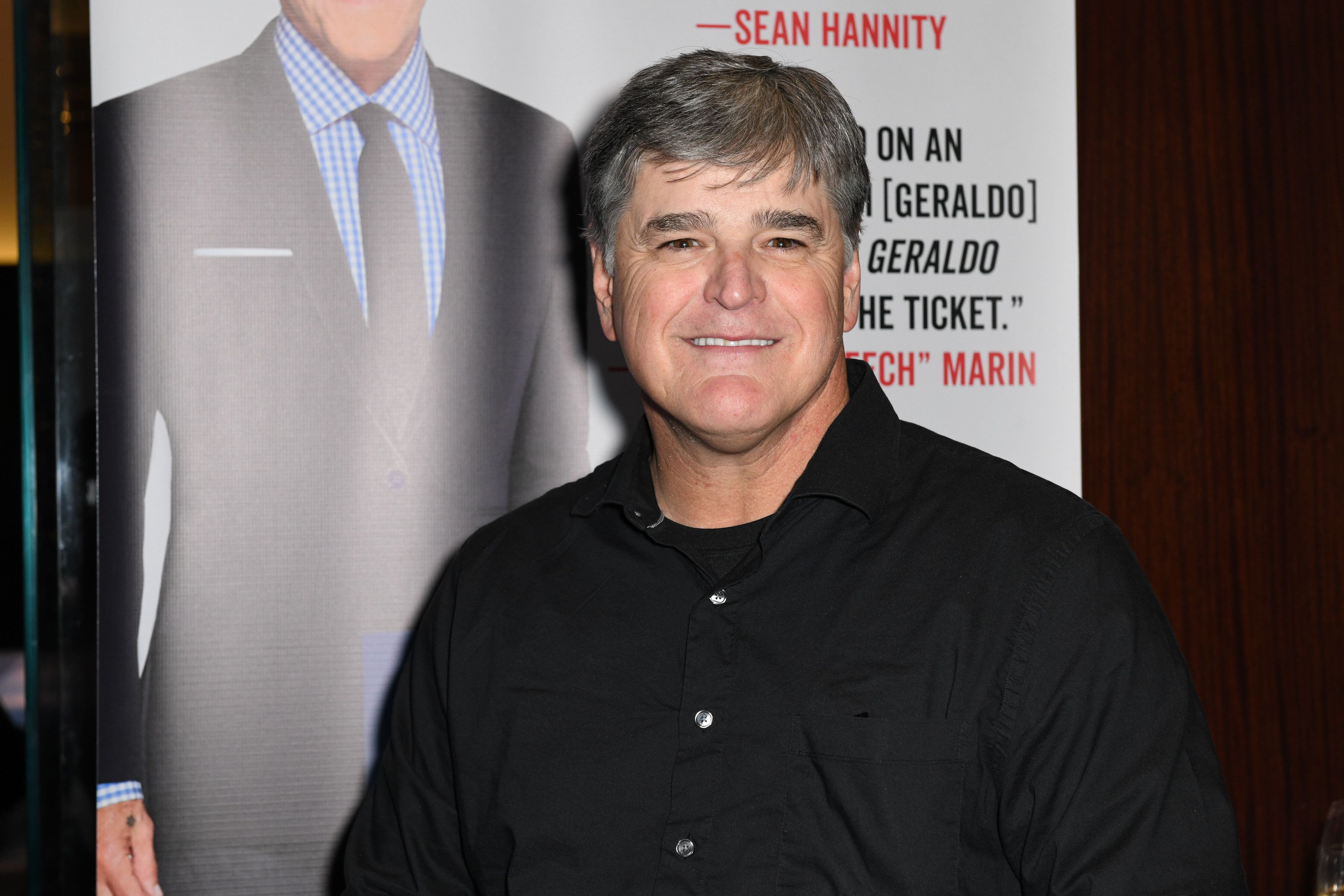 NEW YORK, NY - APRIL 02:  Sean Hannity  attends Sean Hannity & Friends celebrate the publication of 'The Geraldo Show: A Memoir' by Geraldo Rivera at Del Frisco's on April 2, 2018 in New York City.  (Photo by Jared Siskin/Patrick McMullan via Getty Images)