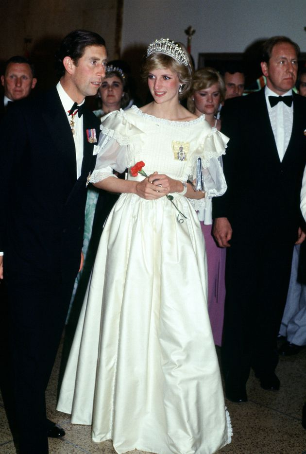 An earlier look: Charles and Diana during an official tour of